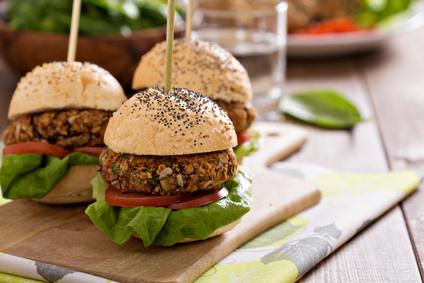 Mexický hamburger z fazolí (vegetariánský)