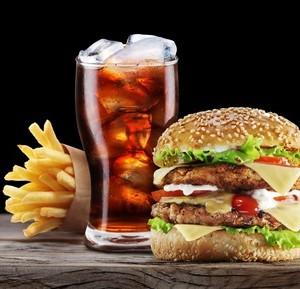 Dvojitý drůbeží hamburger
