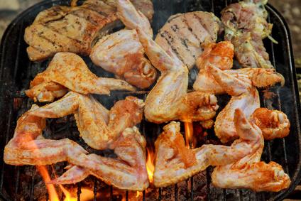 Grilovaná kuřecí křídla na exotično