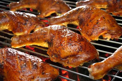 Grilovaná kuřecí stehna na koření