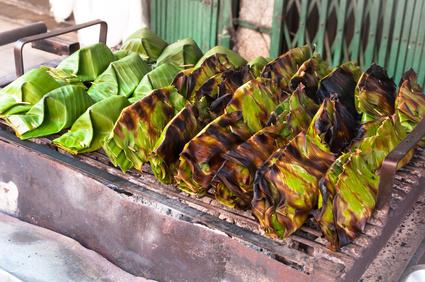 Grilovaná rýže s kokosovým krémem
