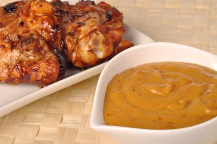 Grilované kuře sbroskvovou omáčkou