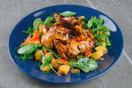 Grilované kuře se zeleninou