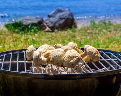 Jednoduché grilované houby