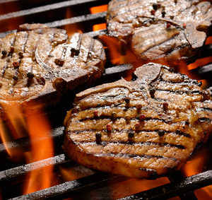Vepřový steak na černo