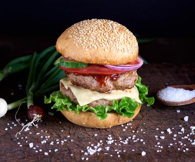 Špinavý burger se sýrem Monterey Jack