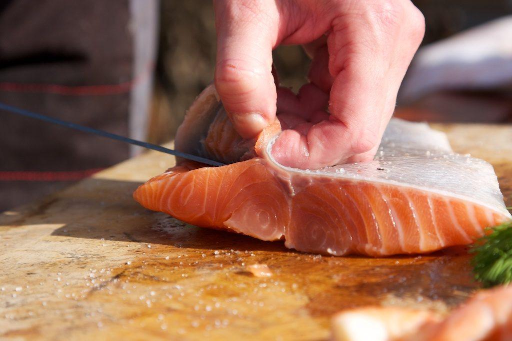 Grilovaný aljašský losos